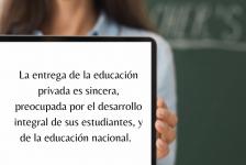 La educación privada antes…la educación privada ahora
