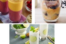 Bebidas y cócteles de verano